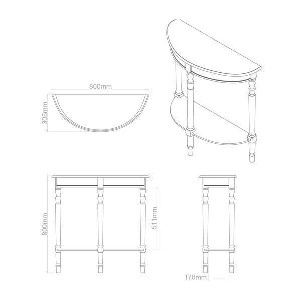 Konzolový stolek Heritage Winter