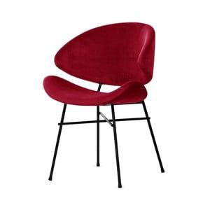 Červená židle s černými nohami Iker Cheri