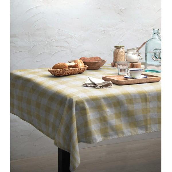 Obrus Linen Couture Beige Vichy, 140 x 200 cm