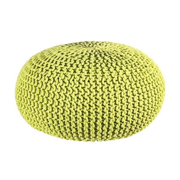 Puf Interccio Green, 80x35 cm