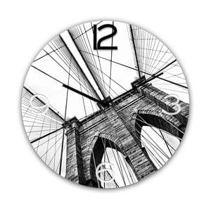 Nástěnné hodiny Styler Glassclock Brooklyn, ⌀ 30 cm