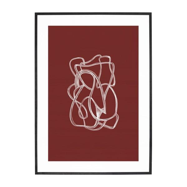 Obraz z ramą z drewna dębowego Hübsch Oak Maro, 50x70 cm