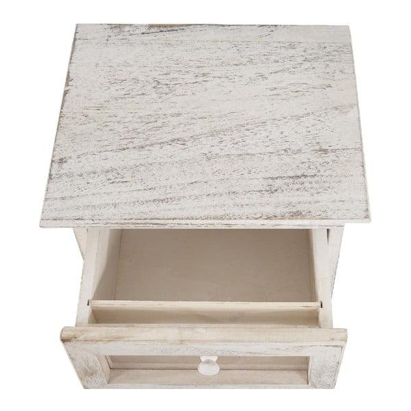 Bílá dřevěná skříňka Mendler Shabby