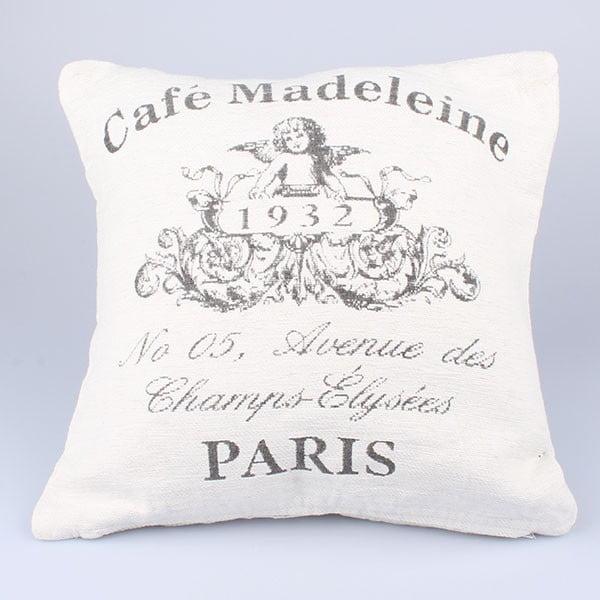 Povlak na polštář Café Paris, bílý