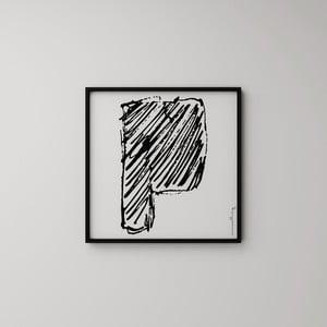 Plakát Litera P, 50x50 cm