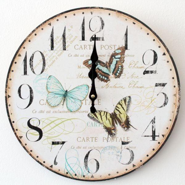 Vintage hodiny Motýli
