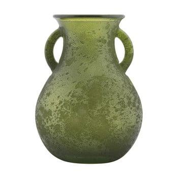 Vază din sticlă reciclată Mauro Ferretti Anfora, ⌀ 11,5 cm, verde de la Mauro Ferretti