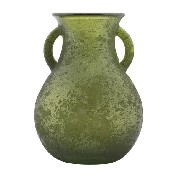 Vază din sticlă reciclată Mauro Ferretti Anfora, ⌀ 11,5 cm, verde