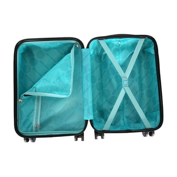 Růžové kabinové zavazadlo na kolečkách Travel World