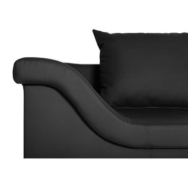 Černá pohovka Florenzzi Geremia s lenoškou na pravé straně