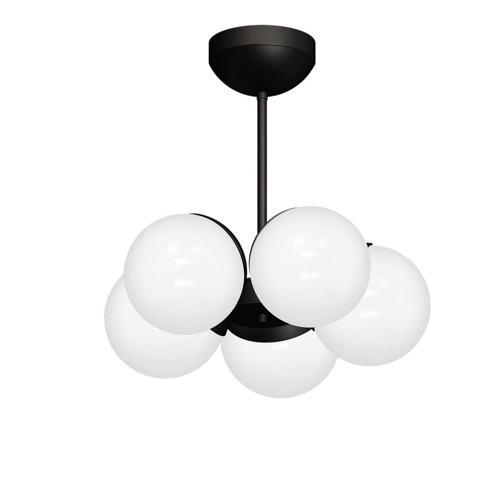 Černý lustr Sphere Cinco