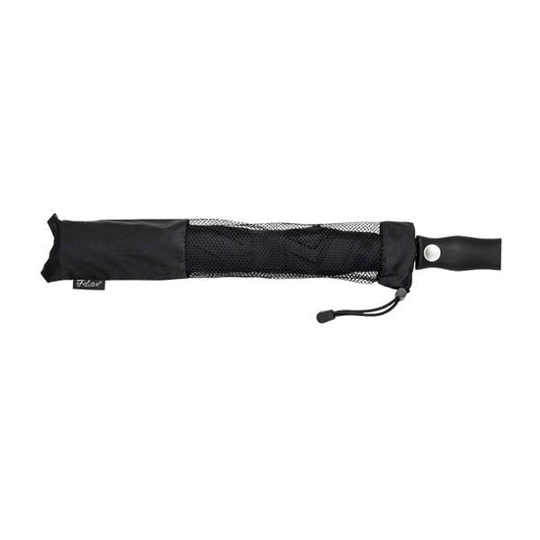 Černý skládací deštník Minimalistic