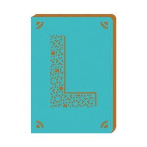 Linkovaný zápisník A6 s monogramem Portico Designs L, 160stránek