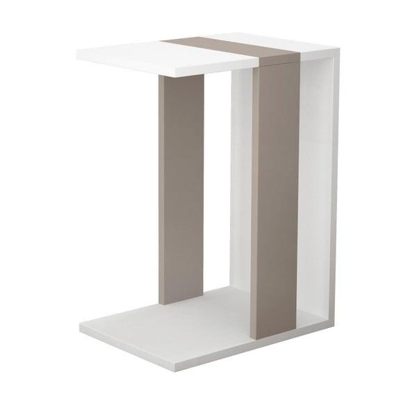 Bílo-hnědý příruční stolek Zetti White Light Mocha