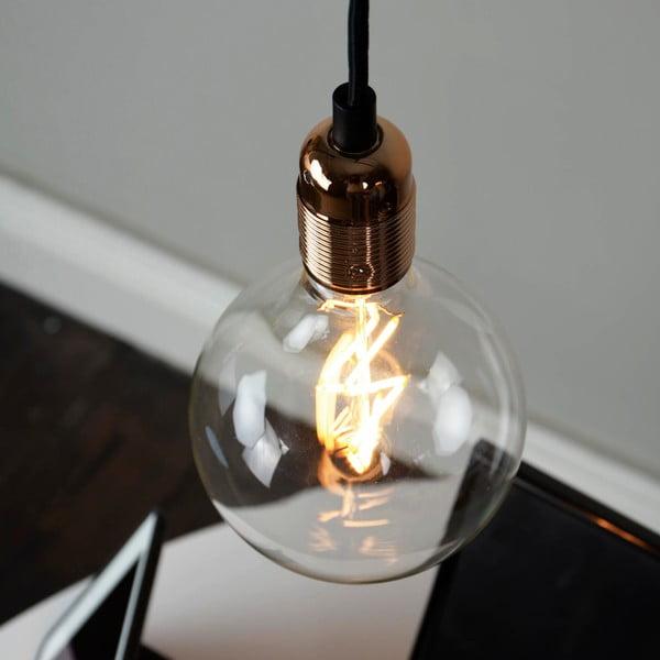 Černý závěsný kabel s měděnou objímkou Bulb Attack Uno