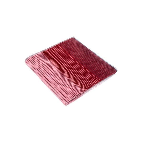 Modro-červená velká bavlněná osuška Casa Di Bassi Stripes, 100 x 180 cm