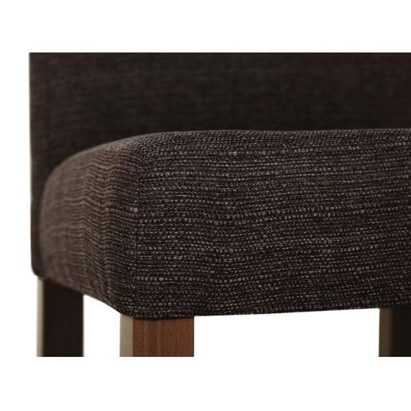 Hnědá židle s tmavě hnědými nohami z bukového dřeva Ted Lapidus Maison Tonka