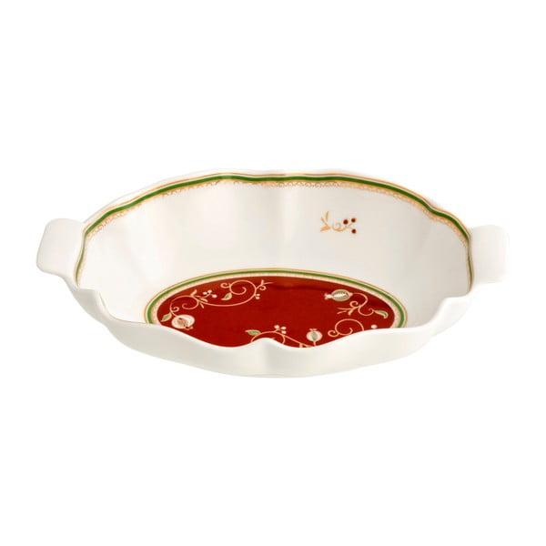 Servírovacia miska s vianočným motívom Brandani Tempo di Festa, dĺžka 24,5 cm
