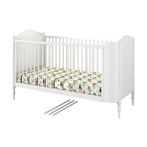 Białe łóżeczko dziecięce BELLAMY GoodNight by Anna Mucha, 70x140 cm