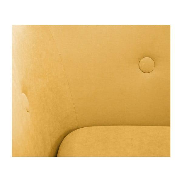 Canapea cu șezlong pe partea stângă Scandi by Stella Cadente Maison, galben muștar