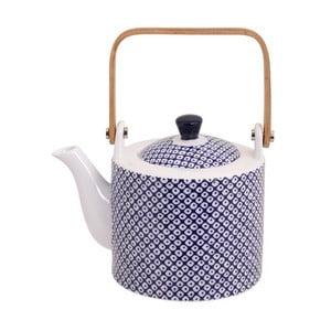 Modro-bílá čajová konvička Tokyo Design Studio Nippon Raindrop, 600ml