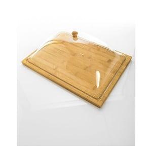 Bambusový podnos se sklěněným poklopem Bambum Almendro