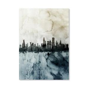 Plakát Americanflat Chicago City Skyline, 42 x 30 cm