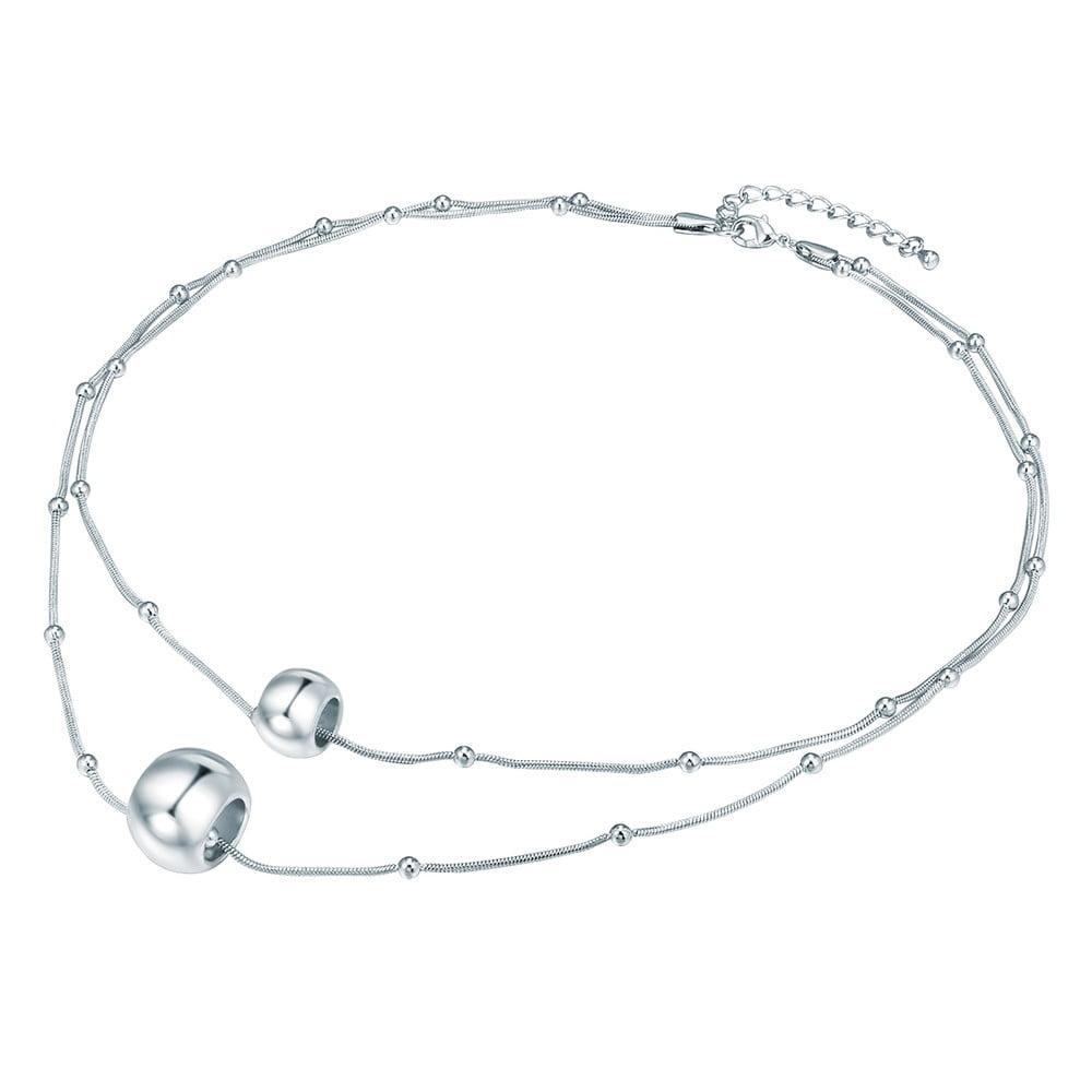 21e139244 Dámský náhrdelník ve stříbrné barvě Tassioni Jingle | Bonami