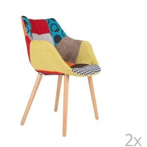 Sada 2 židlí Zuiver Twelve Patchwork