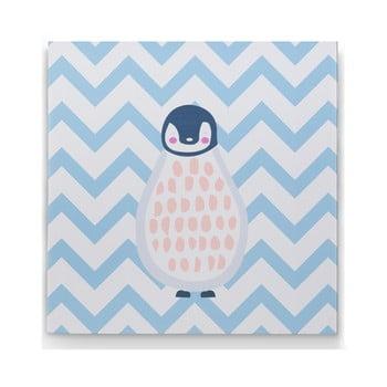 Tablou KICOTI Penguin, 40 x 40 cm, multicolor de la KICOTI