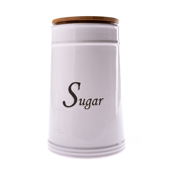 Biela keramická dóza na cukor Dakls, 2480 ml
