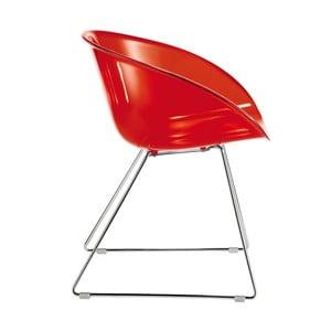 Červená židle Pedrali Gliss 921