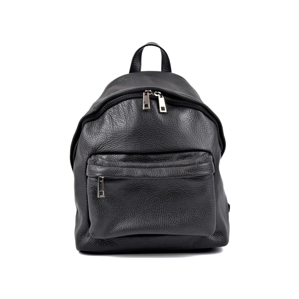 Černý kožený dámský batoh Roberta M Rahna b975a21671