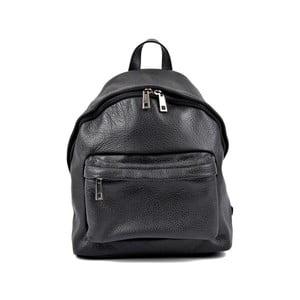 Černý kožený dámský batoh Roberta M Rahna