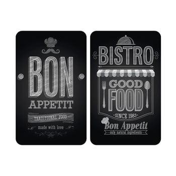 Set 2 protecții din sticlă pentru aragaz Wenko Bon Appetit,52x30cm imagine