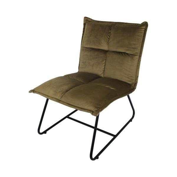 Olivově hnědá židle se sametovým potahem HSM collection Estelle