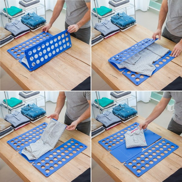 Împăturitor haine InnovaGoods, albastru