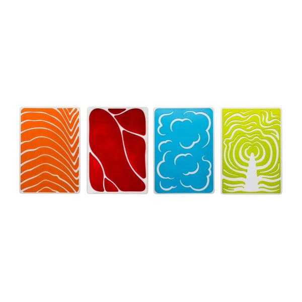 Set barevných prkýnek, 4 ks
