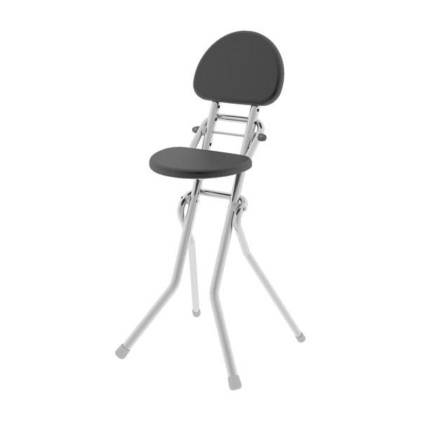 Černá židlička k žehlicímu prknu Colombo New Scal Amigo