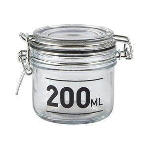 Recipient de sticlă cu capac KJ Collection Jar, 200 ml