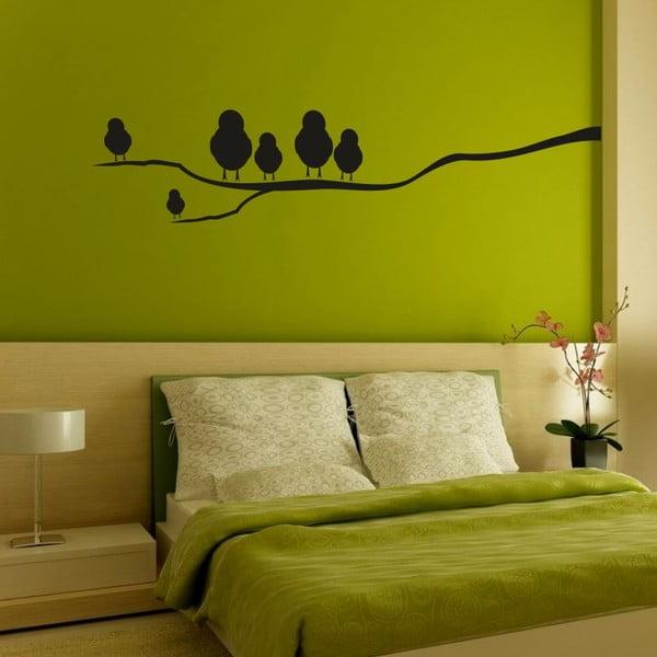 Samolepka na stěnu Wallvinil Ptáččci na větvi, levá strana