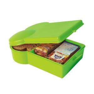 Svačinový box, zelený