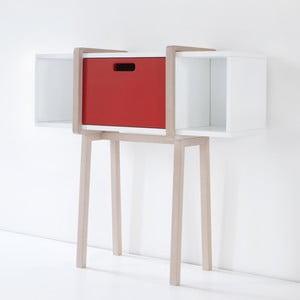 Odkládací stolek Tconsolle Fire Red