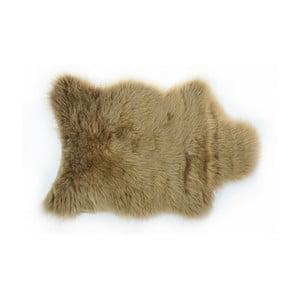 Hnědý kožešinový koberec Apolena, 50x70cm