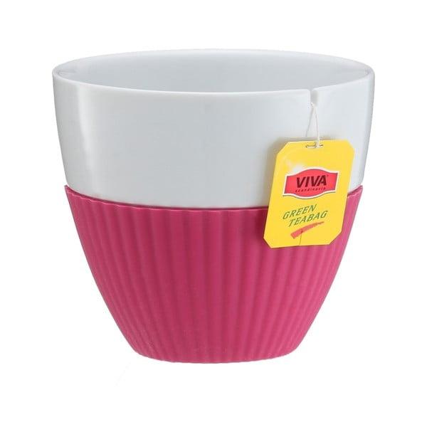 Hrnky na čaj Anytime, fuchsiová, 2 ks