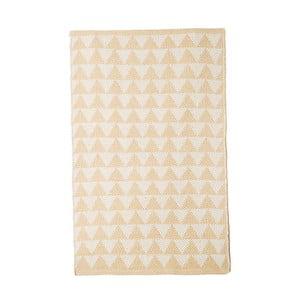 Béžový bavlněný ručně tkaný koberec Pipsa Triangle, 140x200 cm