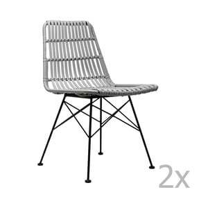 Sada 2 šedých jídelních židlí Red Cartel Surabaya