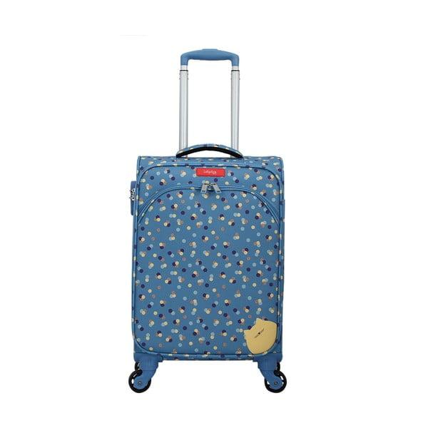 Modrý kufor na 4 kolieskach Lollipops Rubbi