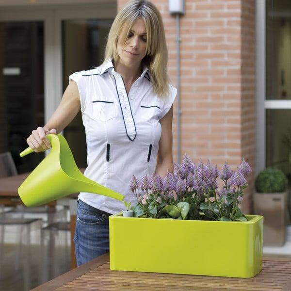 Plastový květináč Calypso Plus, zelený