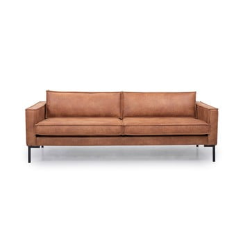 Canapea cu 3 locuri din piele Softnord Rate maro